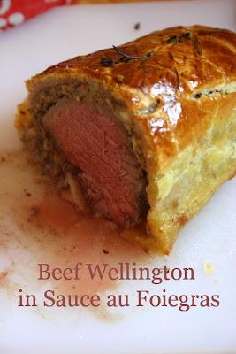 ... Kitchen: Beef Wellington Mushroom & Chestnuts and Sauce au Foigras