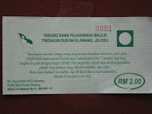 Sumbangan Untuk Tabung Dana Pilihanraya Majlis Tindakan DUN (MTD) N.04 Klawang