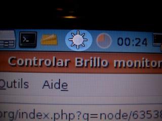 Botón para aumentar el brillo del monitor