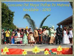 CONCURSO DE DISFRAZ CON MATERIAL RECICLABLE 2010