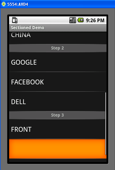 android how to clear listview