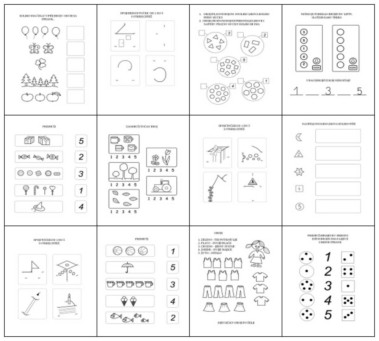 matematičkih zadataka za 1. razred sa stranice Brave Kid Games