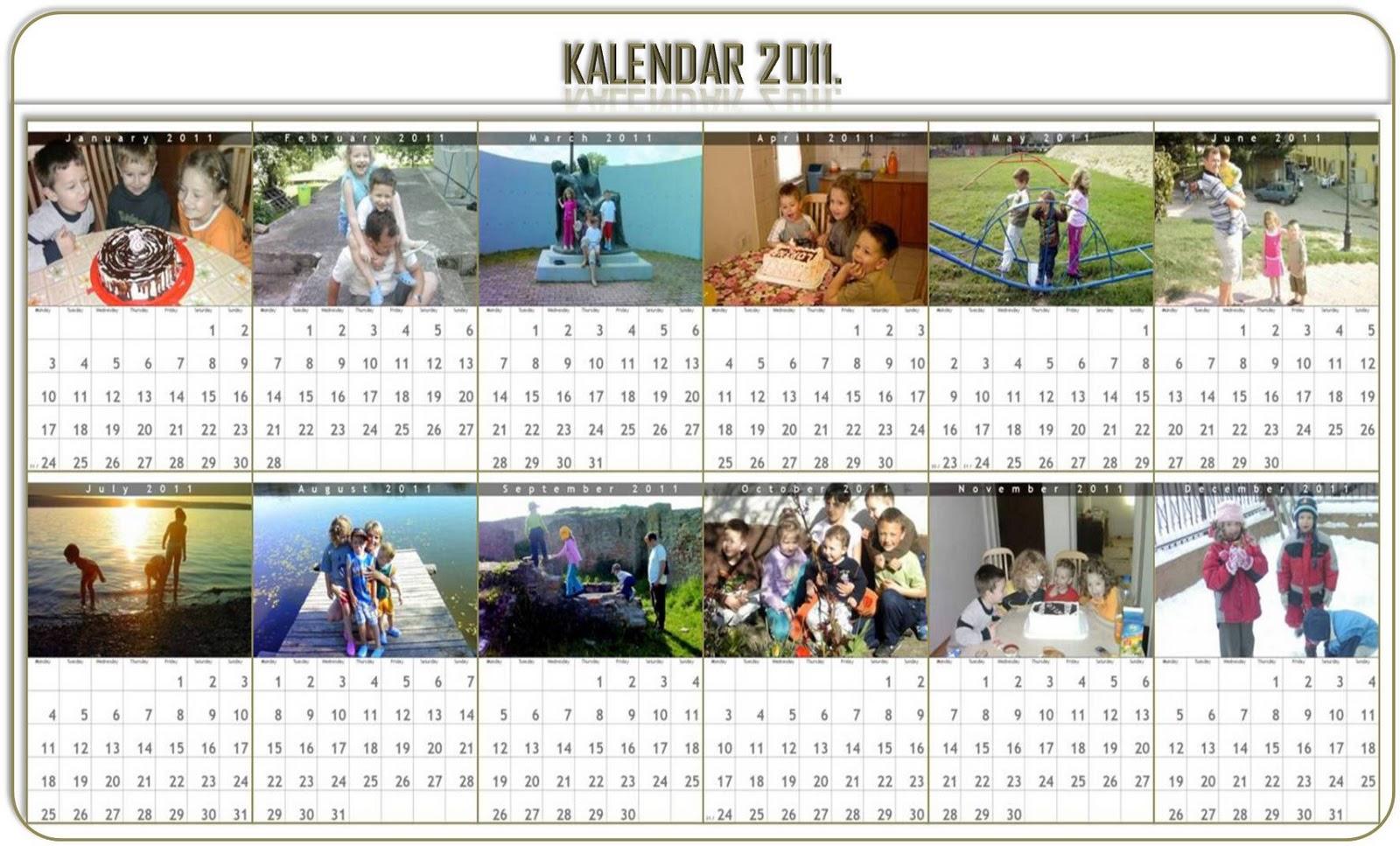 Napravite Svoj Fotokalendar Za 2011 U Nekoliko Minuta