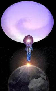 Ser humano en estado morocial escapa de la tierra al espacio