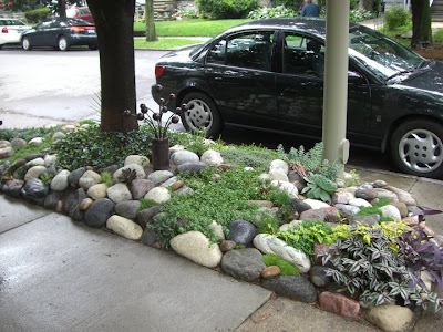 Found This While On Manchester Place, The Week Before Garden Walk Last  Year. A Beautiful Rock Garden, Complete With Artwork, Occupying A Hell Strip  (the ...