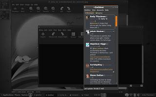 Gwibber microblog client screenshot