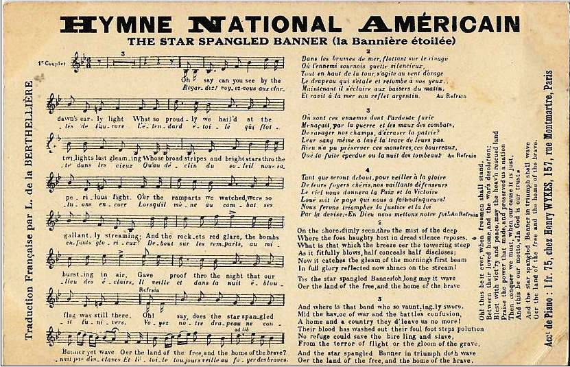 the national anthem of america The star-spangled banner: the star-spangled banner, national anthem of the united states, with music adapted from the anthem of a singing club and words by francis scott key.