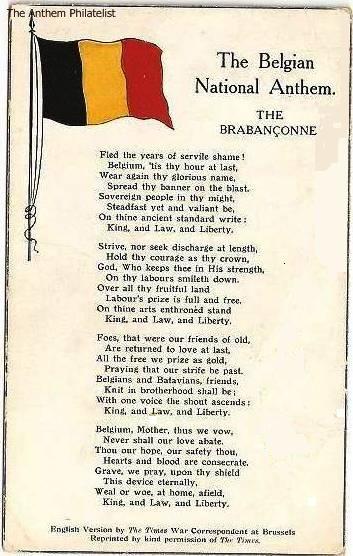 The Anthem Philatelist: The Brabançonne- English Version