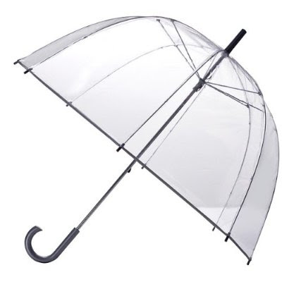 Totes, Totes Bubble Umbrella Silver, umbrella, rain, bubble umbrella