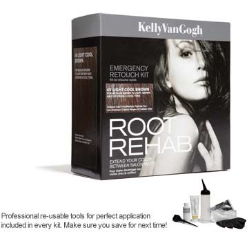 Kelly Van Gogh, Kelly Van Gogh Root Rehab, Kelly Van Gogh Root Rehab Emergency Retouch Kit 4V Light Cool Brown, giveaway, beauty giveaway, hair, haircolor, hair color, roots