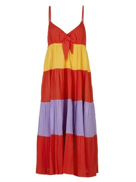 See by Chloe, See by Chloe Block-Color Cotton Sundress, See by Chloe dress, See by Chloe sundress, sundress, dress, The Outnet