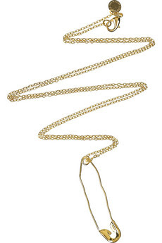 Tom Binns, Tom Binns necklace, Tom Binns jewelry, Tom Binns Brass-Plated Safety Pin Necklace, necklace, jewelry, Net-a-Porter