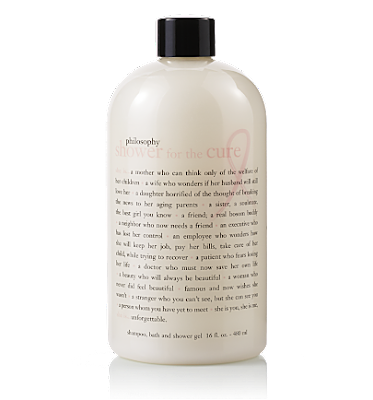 Philosophy, Philosophy shower gel, Philosophy Shower for the Cure, BCA, breast cancer awareness, shower gel, body wash