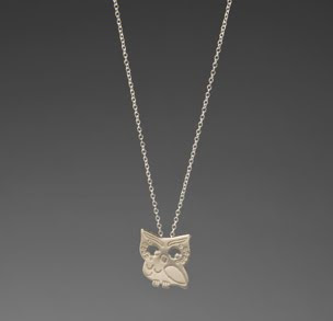 Gorjana, Gorjana necklace, Gorjana jewelry, Gorjana pendant, Gorjana Small Owl Necklace in Silver, necklace, jewelry, pendant, owl jewelry, owl pendant, owl necklace