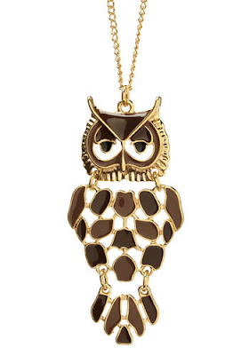 ModCloth, ModCloth jewelry, ModCloth necklace, ModCloth A Bird to the Wise Necklace, necklace, jewelry, owl jewelry, owl necklace, owl pendant