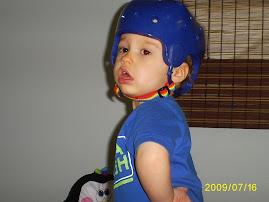 Austin's helmet