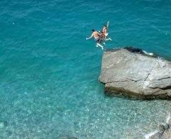 Jumping in Ocean