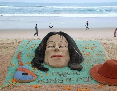 Sand Sculpture Michael Jackson