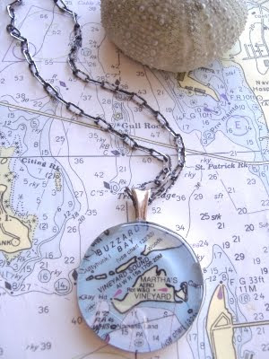 nautical chart jewelry