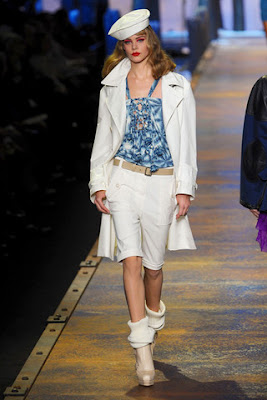 navy style christian dior spring collection 2011