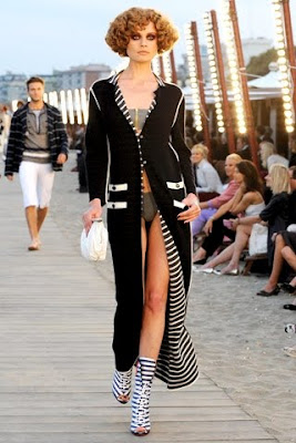 Coco Chanel navy resort style