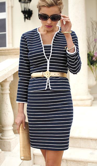 Chic Blue and White Stripe Dress  Fashion Nautical Style