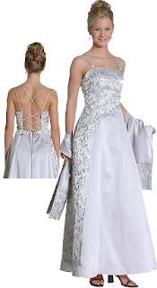 backless embroidery gown