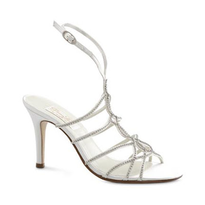 bridal shoe silver and metalic pic1