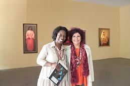 Rita Ribeiro em visita ao Museu Afro Brasil