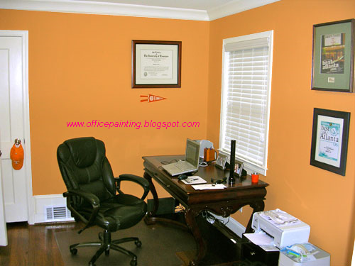 paint for office. This Is An Interesting Wall Paint Idea Which Accentuates The Look Of Your Room To A Great Extent. For Office S