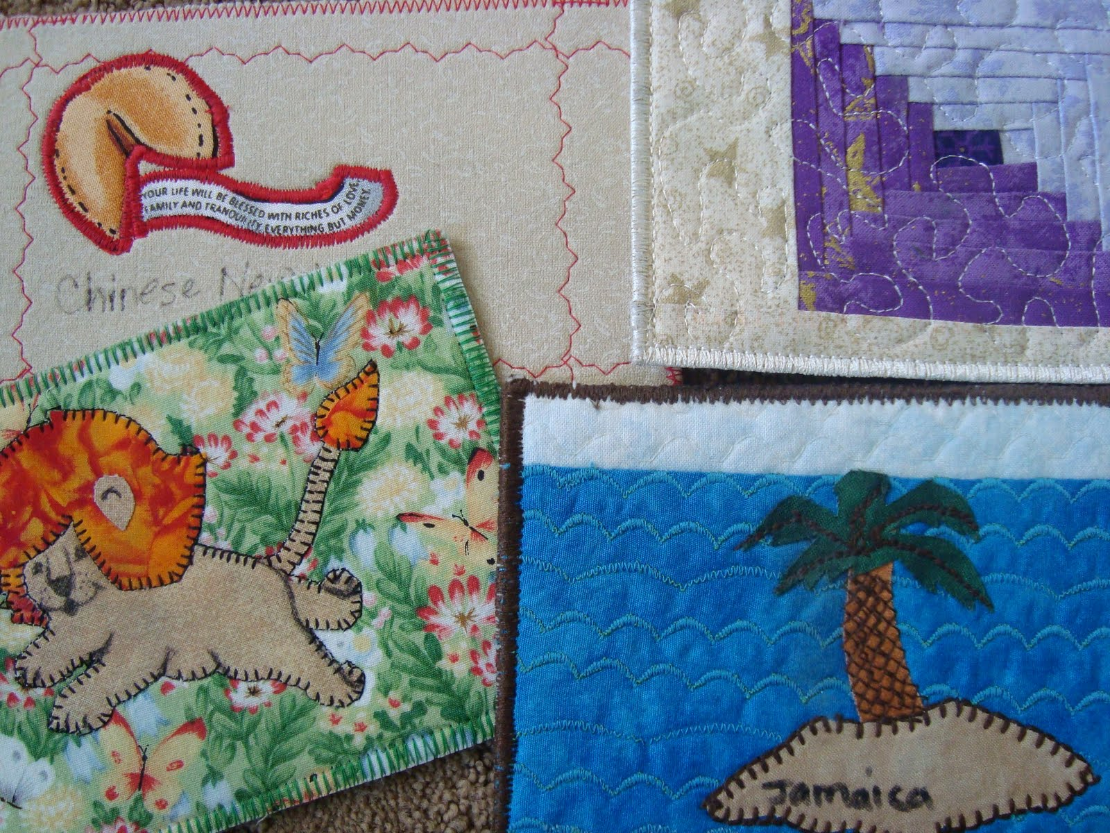 diy postcards - use ufo quilt blocks