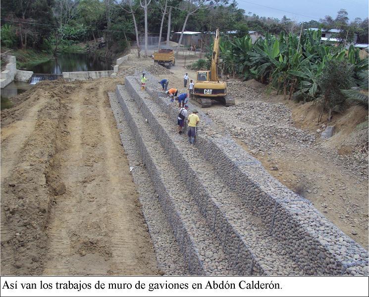 se construye muro de gaviones en abdn caldern - Muro De Gaviones
