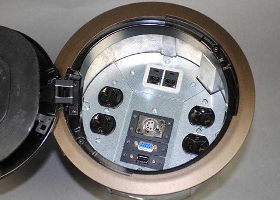 Wiremoldupdate Versatile Round Floor Box For Raised Floor