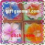 ของชำร่วย เทียนหอม ดอกไม้คละสี