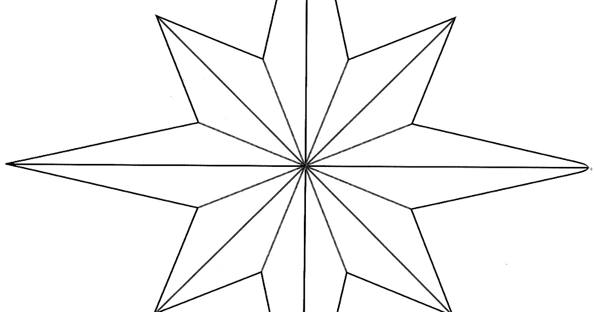 hopemore  eight point star template