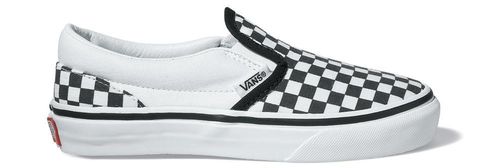 tênis vans classic slip on xadrez branco