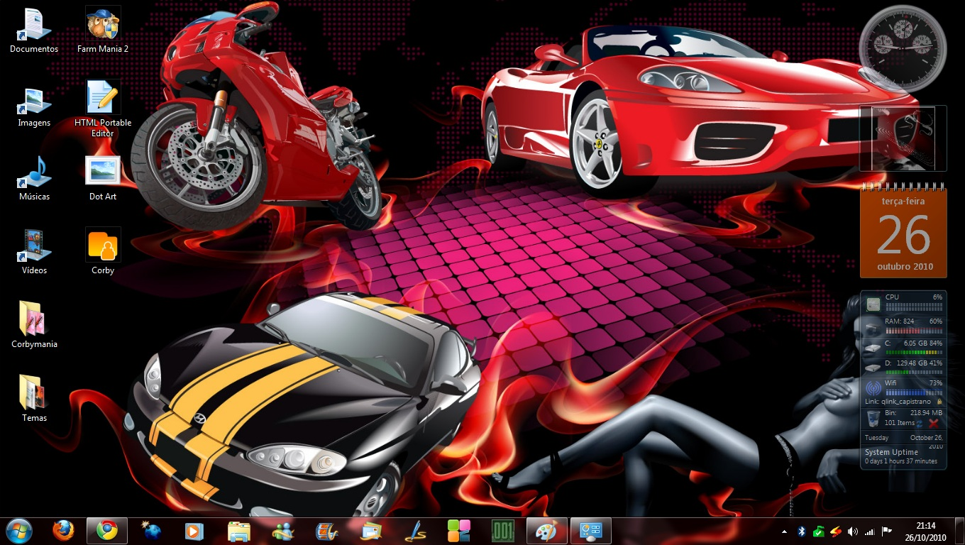 descargar temas de carros para windows 7