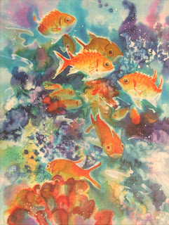 Younglao silk painting fish