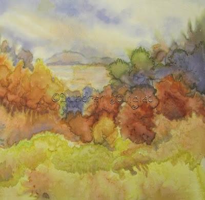 Deborah Younglao landscape silk painting