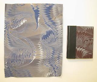 Janet Platz hand marbled paper