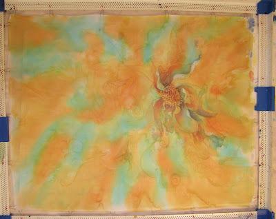 Younglao batik painting step 2