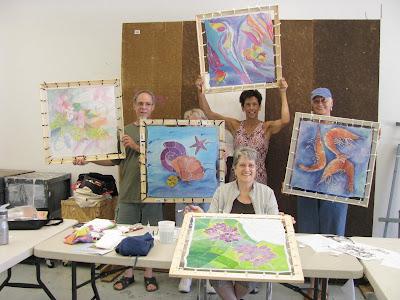 Deborah Younglao silk painting workshop