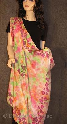 Deborah Younglao silk scarf, ivy leaves