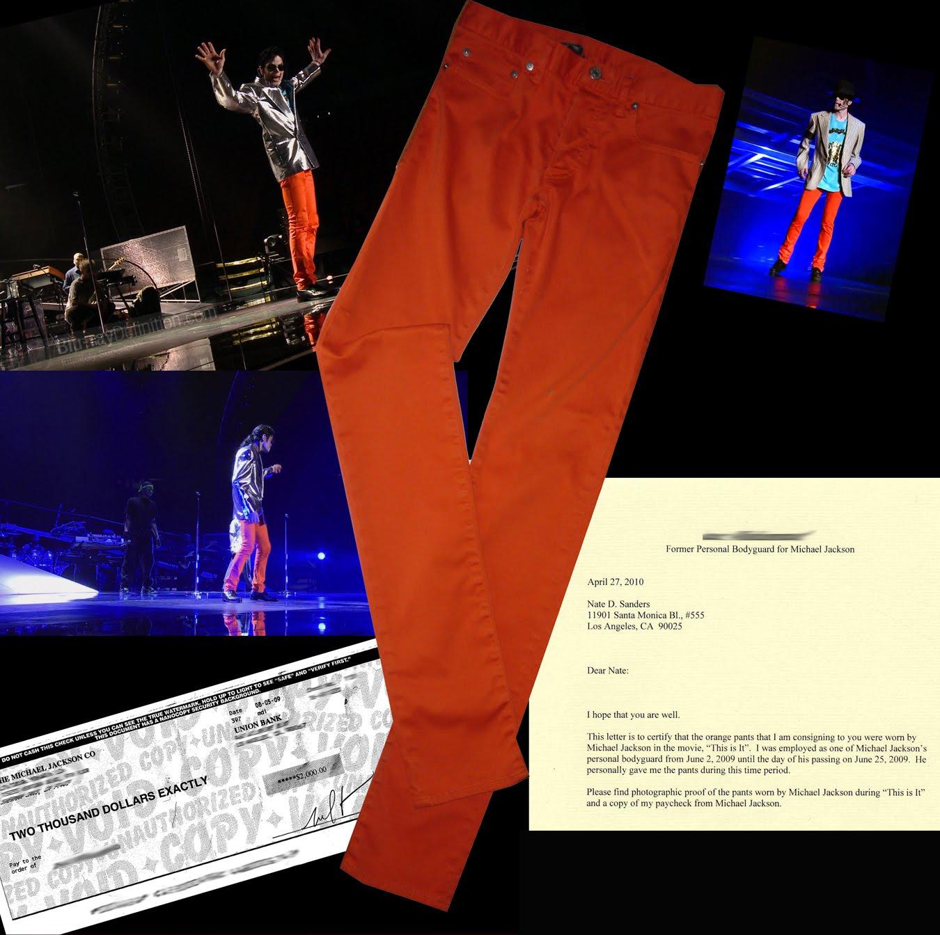 Michael jackson orange skinny jeans