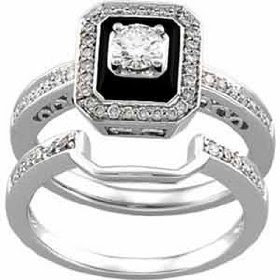 of wedding ring set which