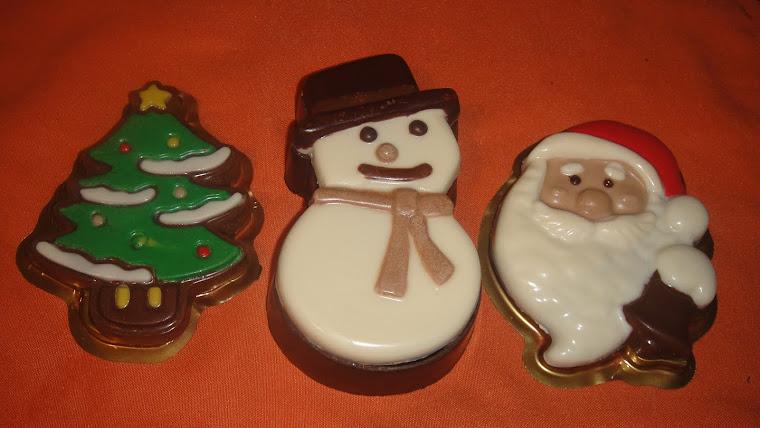 Y ya llega la Navidad!!!!! Arbolito colorido, Cofre de muñeco de nieve y delicioso Santa