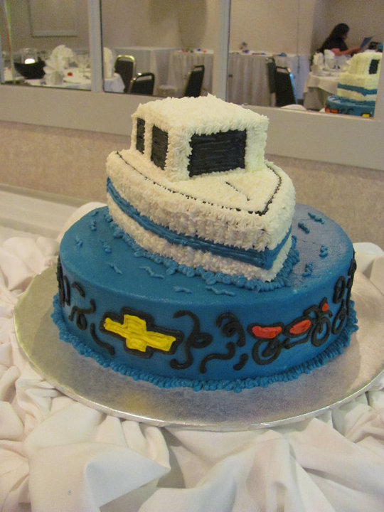 Cake Images Boat : Stettie Cakes: House Boat Cake