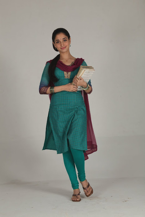 South Indian Actress Tamanna in College Girl Dress in Leggings