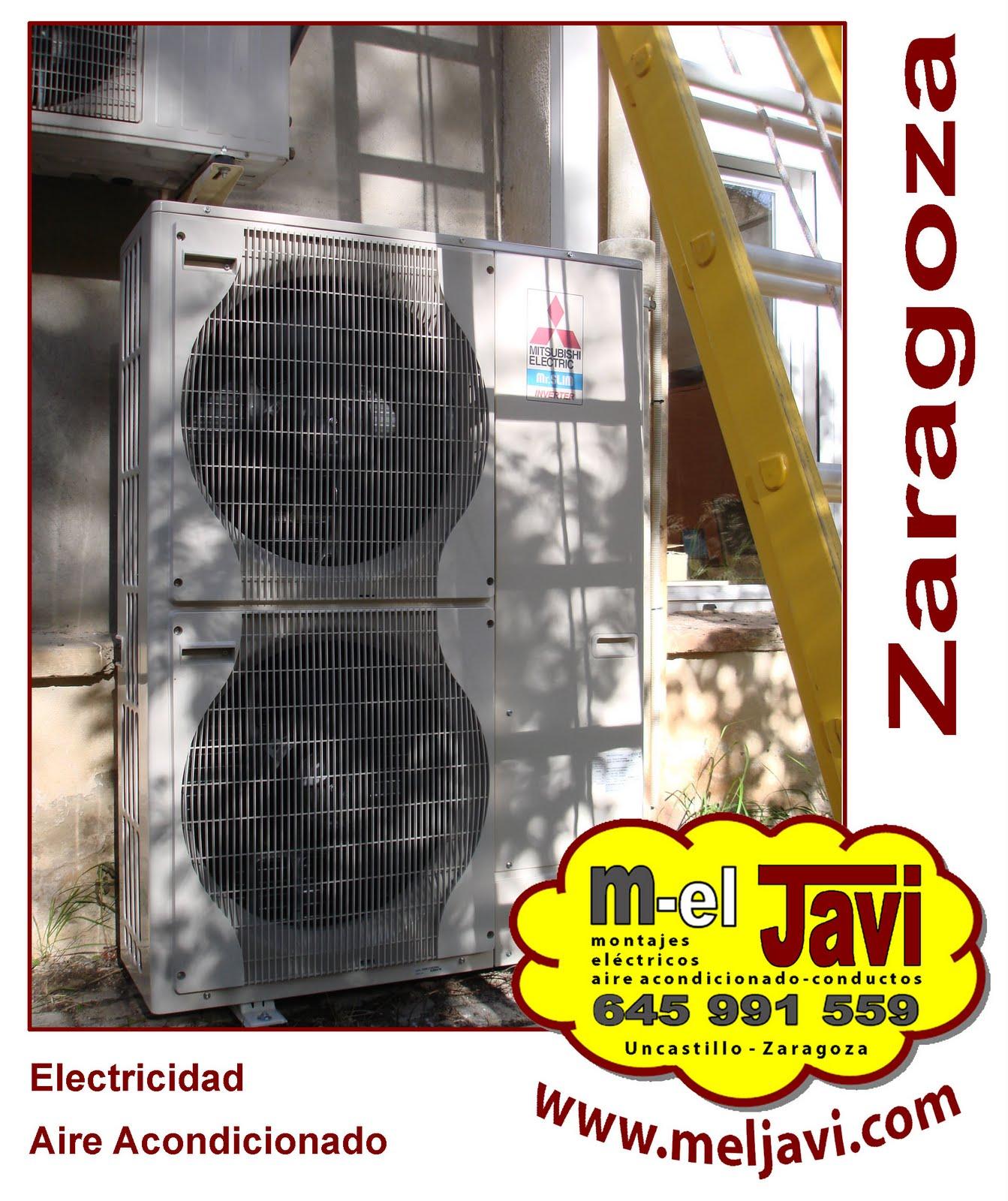 Meljavi electricistas zaragoza uncastillo for Instaladores aire acondicionado zaragoza