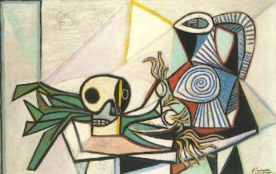 Picasso - Nature morte avec crâne, poireaux et pichet - 1945